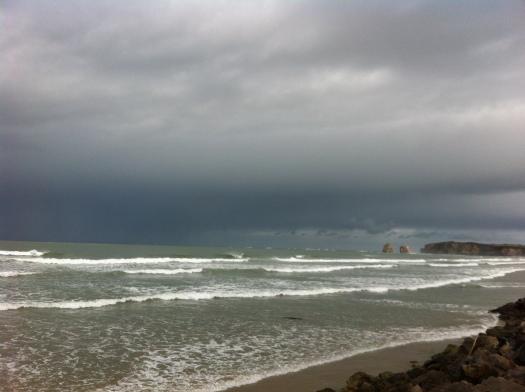 Cielo tormentoso en Hendaya Hendaye